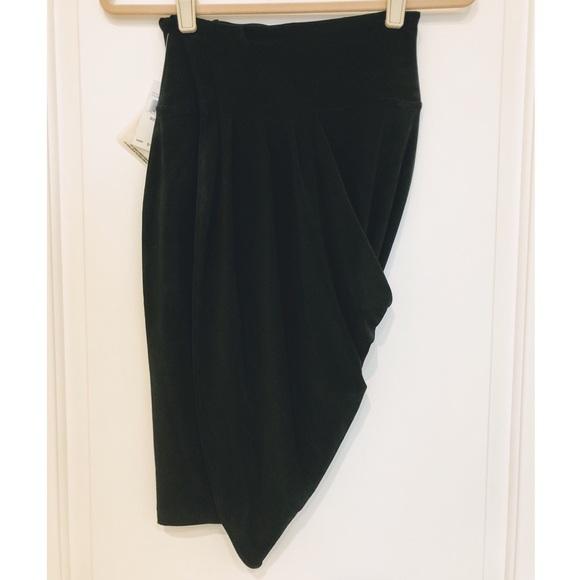Norma Kamali Dresses & Skirts - Norma Kamali Everlast Draped Asymmetrical Skirt